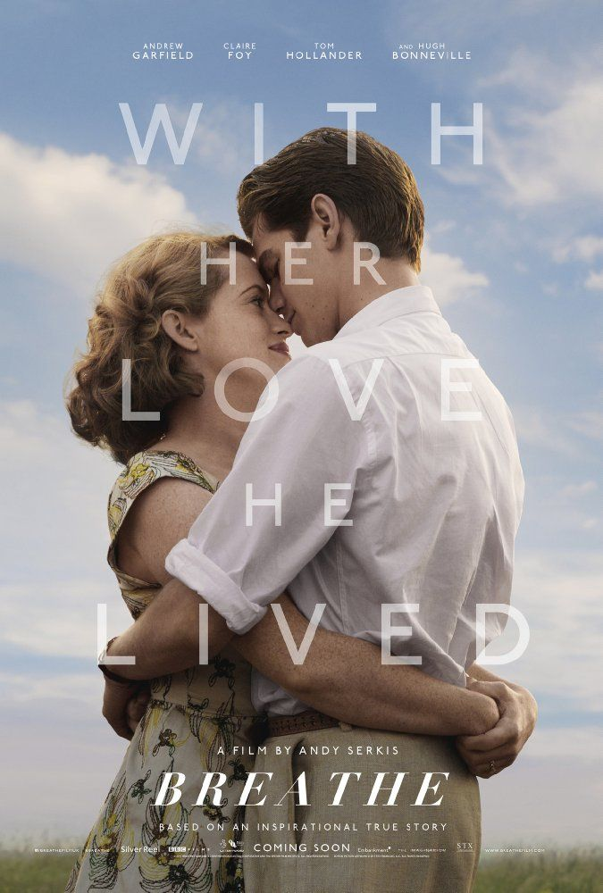 Breathe (2017) PG-13 The true story of Robin (Andrew Garfield), a man who loves adventure, meets a woman (Claire Foy) and quickly falls in love with her. Their life is idyllic until he's afflicted with polio that leaves him paralyzed. I can't think of anyone else but Garfield who could play this man who decides that polio won't stop him from living his life the way he wants to. https://lastonetoleavethetheatre.blogspot.com/2017/06/baby-driver.html