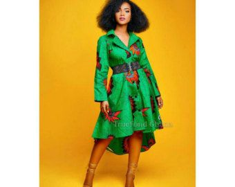 formal african dress clothing for women ankara dress by TrueFond