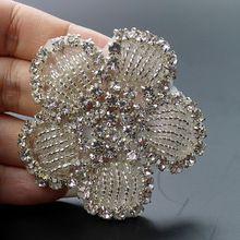 Hoge kwaliteit naaien op strass applique productie directe verkoop 1pc 5.8*5.8 zilveren kristal voor diy wedding ap30 riemen(China (Mainland))