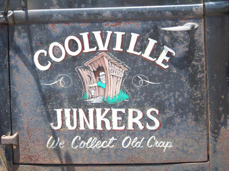 Coolville Junkers Door Art Truck Lettering Truck Art