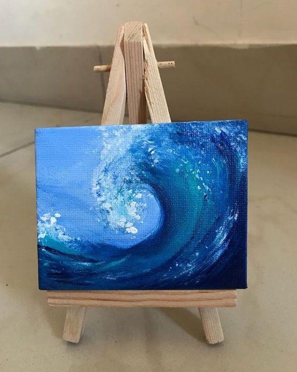 40 Imaginative Miniature Painting Ideas Mini Canvas Art Small Canvas Paintings Simple Canvas Paintings