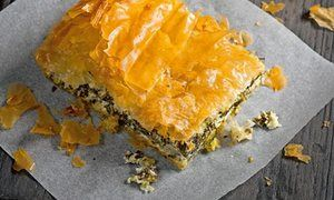 Spanakopita and put lentil and spinach soup - Hugh Fearnley Whittingstall