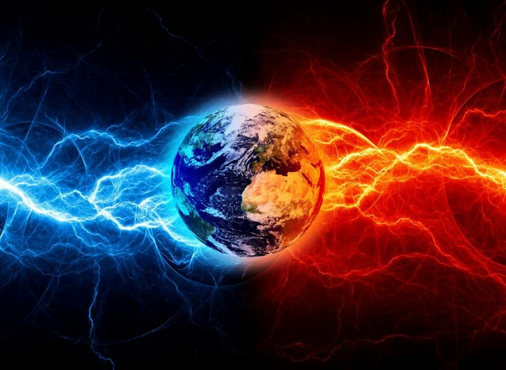 Pin by ღܨSinful JinxXxܨεїз~ on RED ~vs ~ BLUE / FIRE and ... Fire Vs Lightning