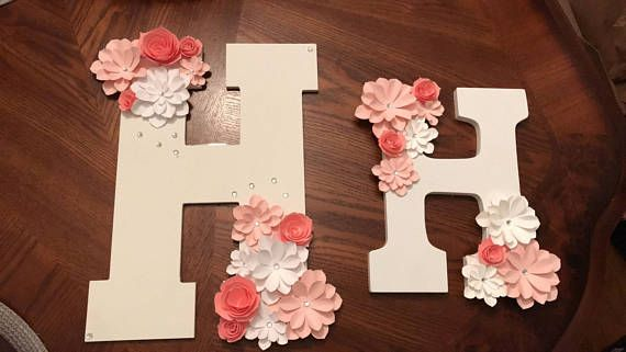 Wooden Letters Floral Letter Backdrop Decoration Candy Table Paper Flower Decor Floral Letters Backdrop Decorations