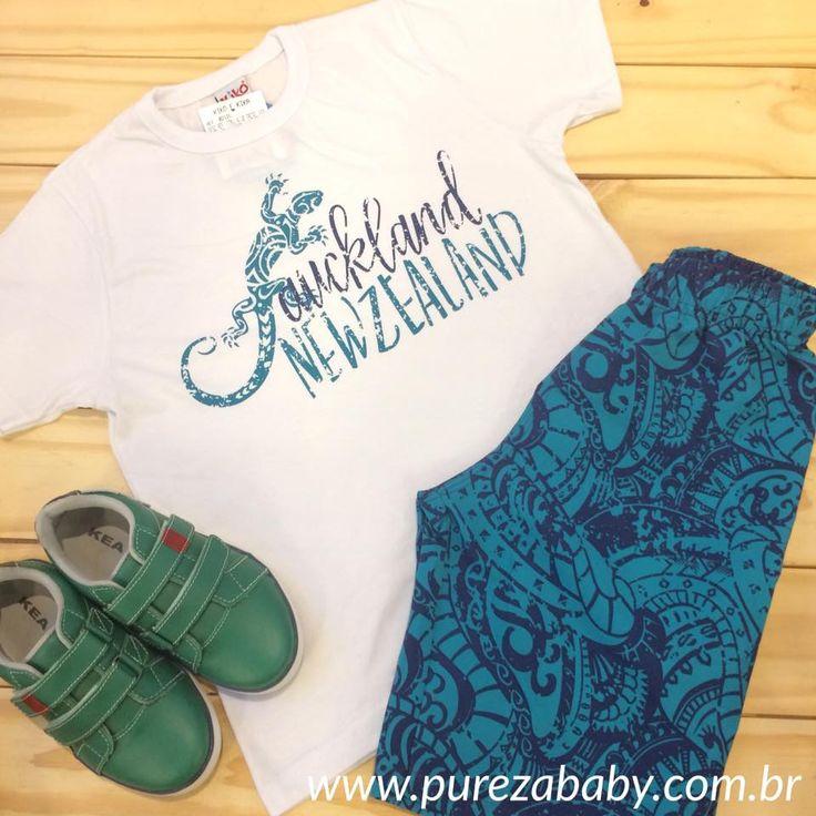 #lookinhodenatal para os Meninos .  Conjunto R$ 56,90  Vem conferir aqui: www.purezababy.com.br/conjunto-kiko-kika-camiseta-newzealand-e-bermuda-tactel
