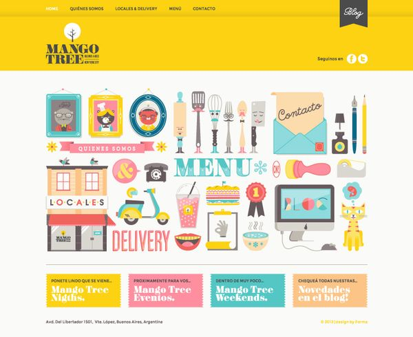 Website - Mango Tree by Lia Martini, via Behance