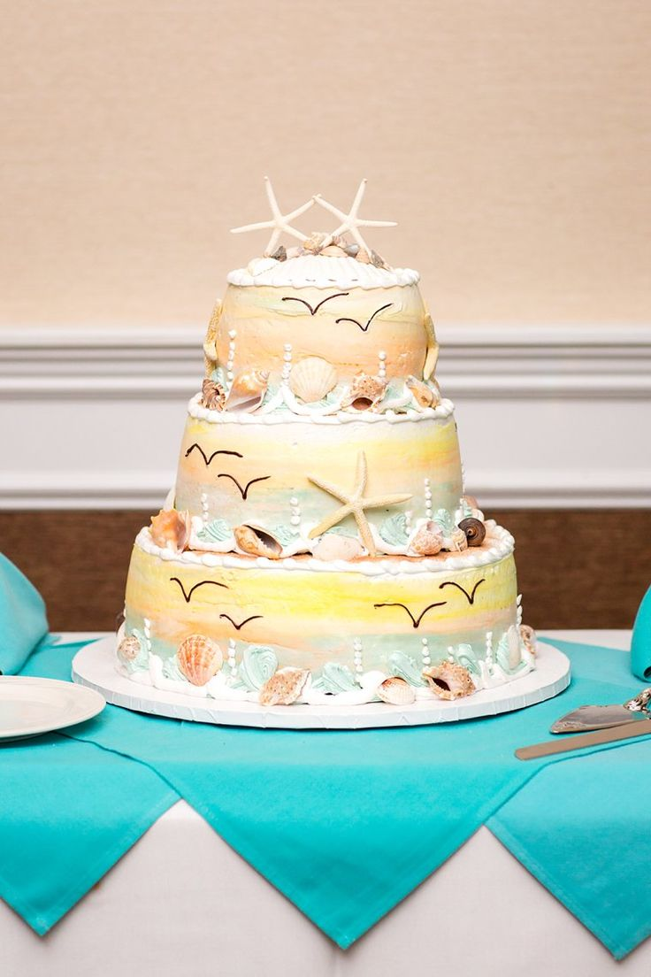 wedding cakes northern new jersey%0A Beach themed cake by CAMEO CAKES  photo by NJ Wedding Photographer Idalia  Photography  visit