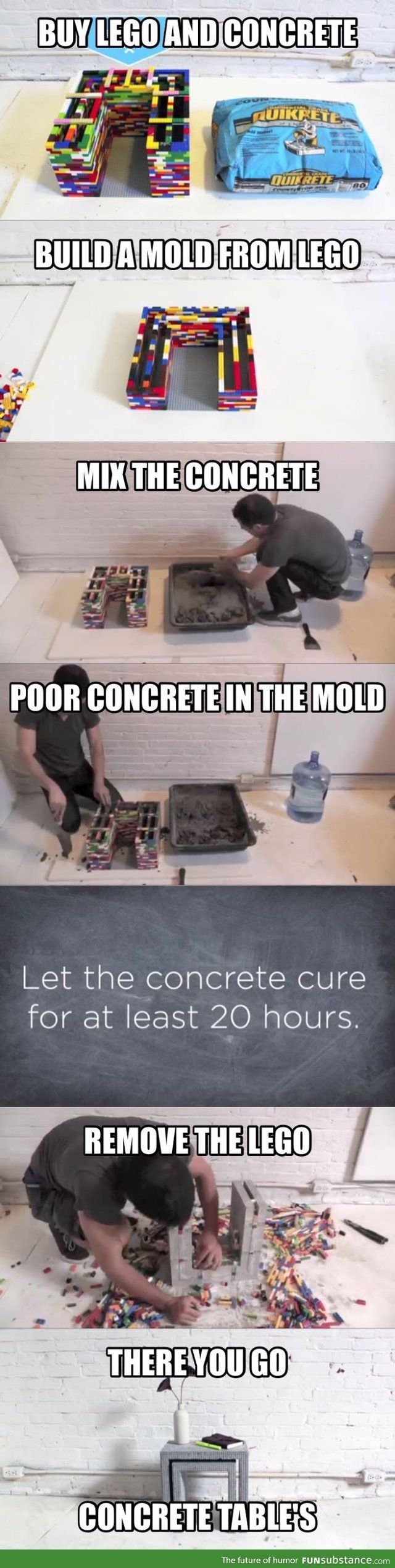 Building with LEGO concrete mold