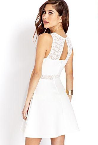 Elegant dress with some flavor. Garden Party Skater Dress | FOREVER 21 - 2000071894 #F21CRUSH