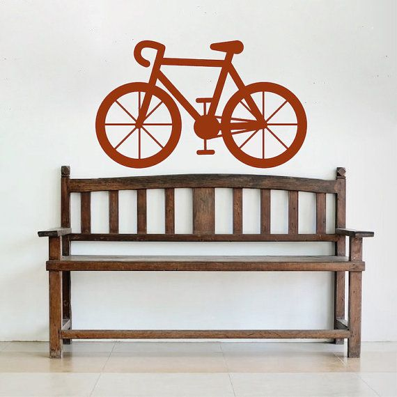 Bicycle Vinyl Wall Decal Bicycle Wall Decal by TrendyWallDesigns