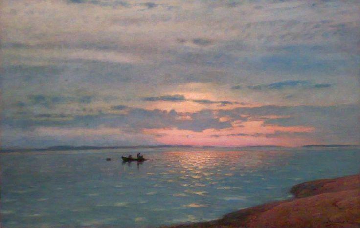 Amaldus Nielsen ~Norwegian: Stillhed Date 1915