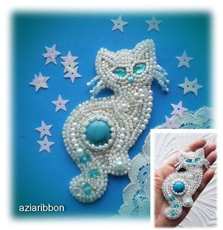Звездный кот | biser.info - всё о бисере и бисерном творчестве