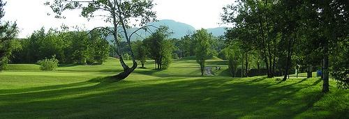 Magnificent 18 holes golf course at Manoir des Sables, Orford, Québec.