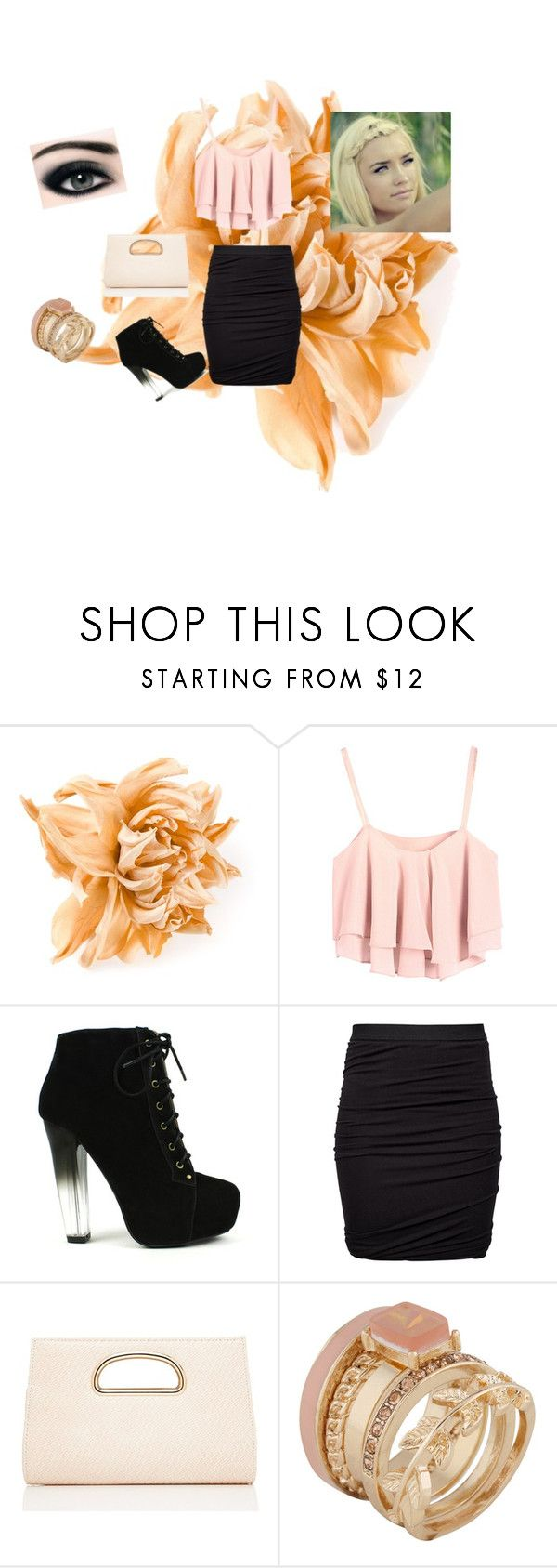 """""""peach me up"""" by tobash21 ❤ liked on Polyvore featuring Erika Cavallini Semi-Couture, Fahrenheit, T By Alexander Wang, Forever New and ALDO"""