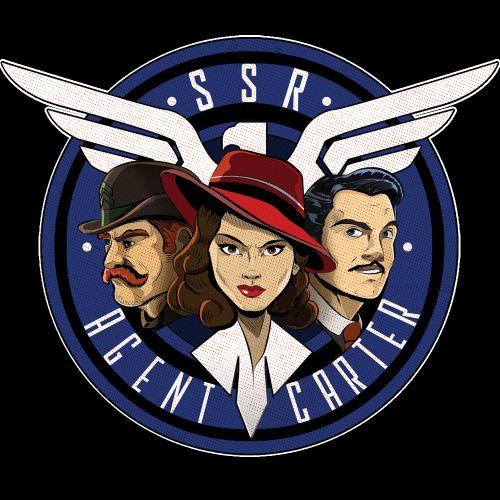 Agent Carter:SSR    Dum-Dum Dugan, Peggy Carter, Howard Stark    by Aaron Morales    Agent Carter T-Shirt Contest    #fanart