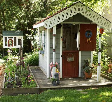 Best Playhouse Images On Pinterest Garden Sheds Backyard