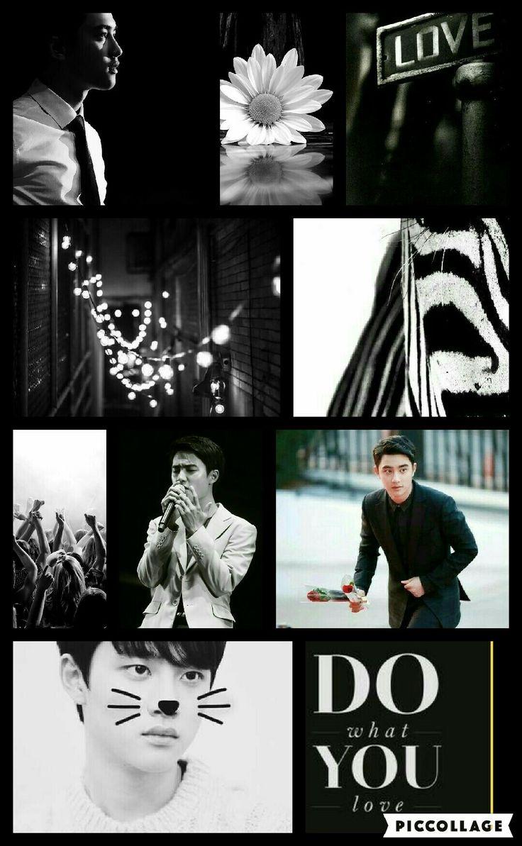 Exo DO Kyungsoo black and white MoodBoard