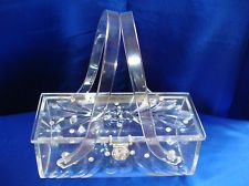 VINTAGE ORIGINAL RIALTO NY CLEAR CARVED LUCITE PURSE BEAUTIFUL !!!