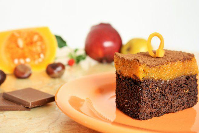 Retete Culinare - Prajitura cu Dovleac si Ciocolata