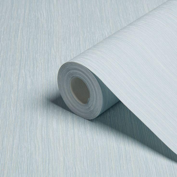 WALLPAPER. 'Unity Blue Textured Stripe Wallpaper' Found at B&Q. Costs - £14 per roll