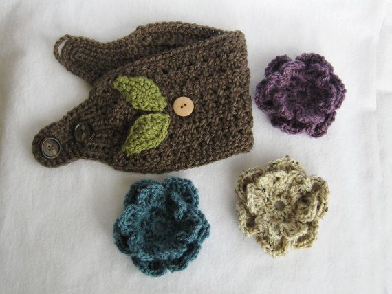 CROCHET PATTERN Ear Warmer with by YarnBlossomBoutique on Etsy, $4.99