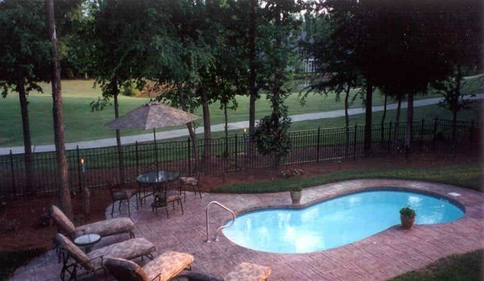 Atlantis small fiberglass pool insert my backyard pool for Pictures of small inground pools