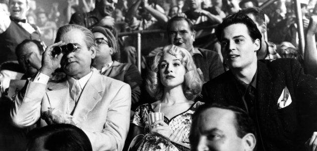 Still of Johnny Depp, Bill Murray and Sarah Jessica Parker in Ed Wood