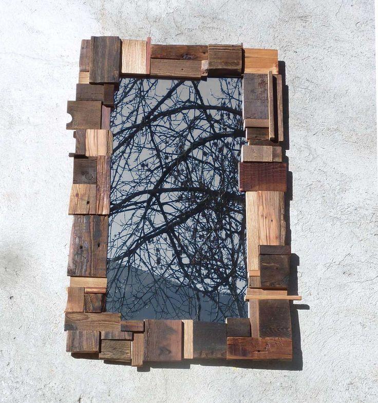 723 best i wood accessories i images on pinterest for Miroir cadre bois