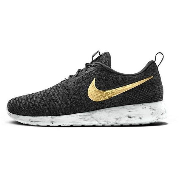Nike Flyknit Roshe Run iD ❤ liked on Polyvore featuring shoes