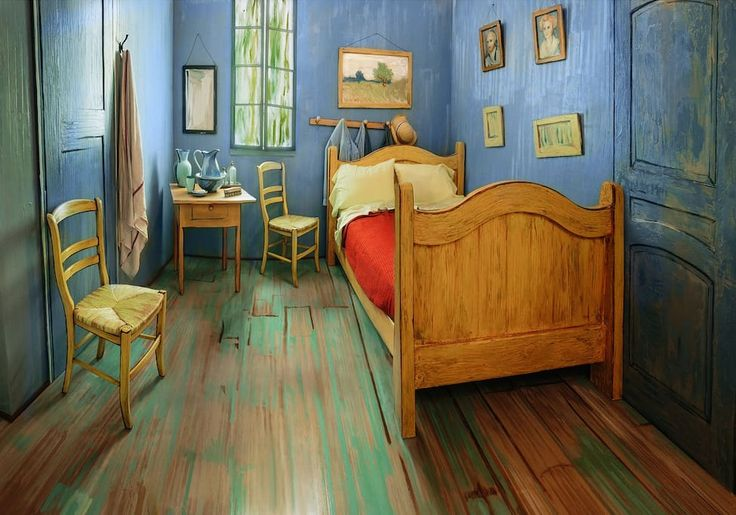 Appartement à Chicago, États-Unis. This room will make you feel like you're living in a painting. It's decorated in a Post-Impressionist style, reminiscent of Southern France and times gone by. Its furniture, bright colors, and artwork will give you the experience of a lifetime.  I...