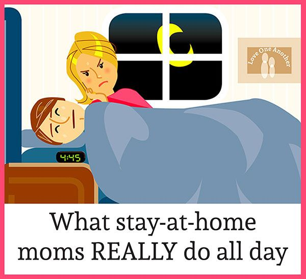 This is a hysterical timeline of what stay-at-home moms REALLY do all day. #BecauseISaidSo