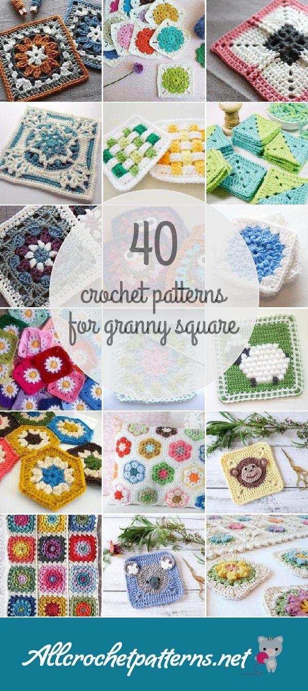 Crochet Patterns For Granny Square | Crochet Motifs 5 | Pinterest ...