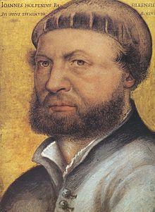 Fils du peintre Hans Holbein l'Ancien, il est le frère cadet du peintre Alex Holbein (vers 1493/94 - vers 1519), avec lequel il étudie dans l'atelier paternel.
