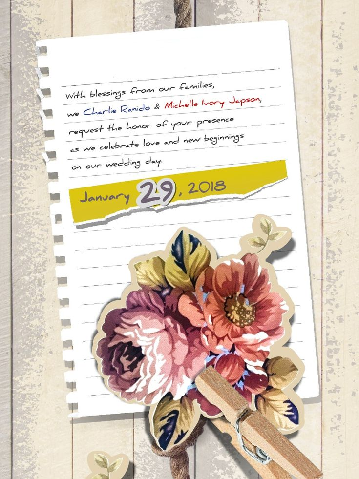 Page 3... Join us in celebrating love and new beginnings :) January 29 is the date!
