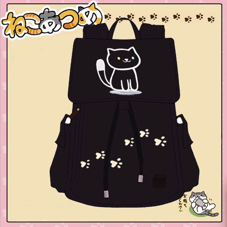 Japanese Accessories Online Store Backpack on Mori Girl の森ガール.Kawaii Cat Plus Size Backpack Cartoon Travel Canvas Bag Mg519 is a must to make an amazing outfit. You can wear it in any occasion - school, office, dates, and parties.