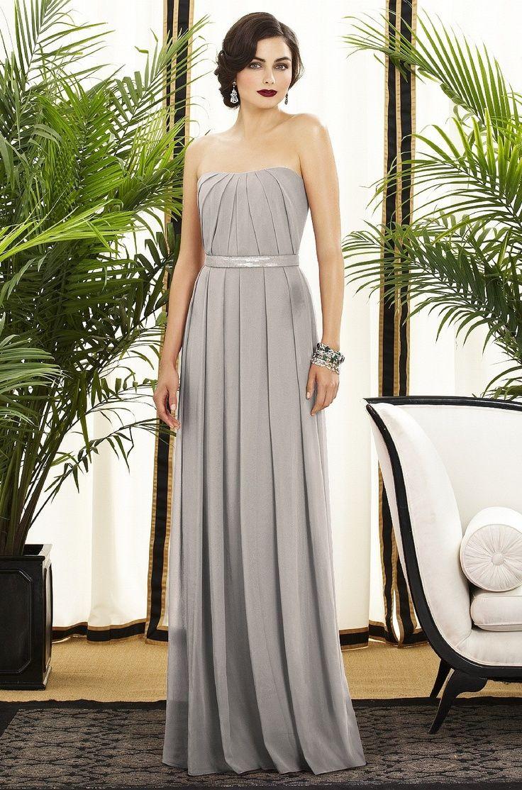 long-light-grey-bridesmaid-dress-wedding