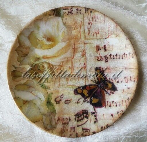 Notes and butterfly plate