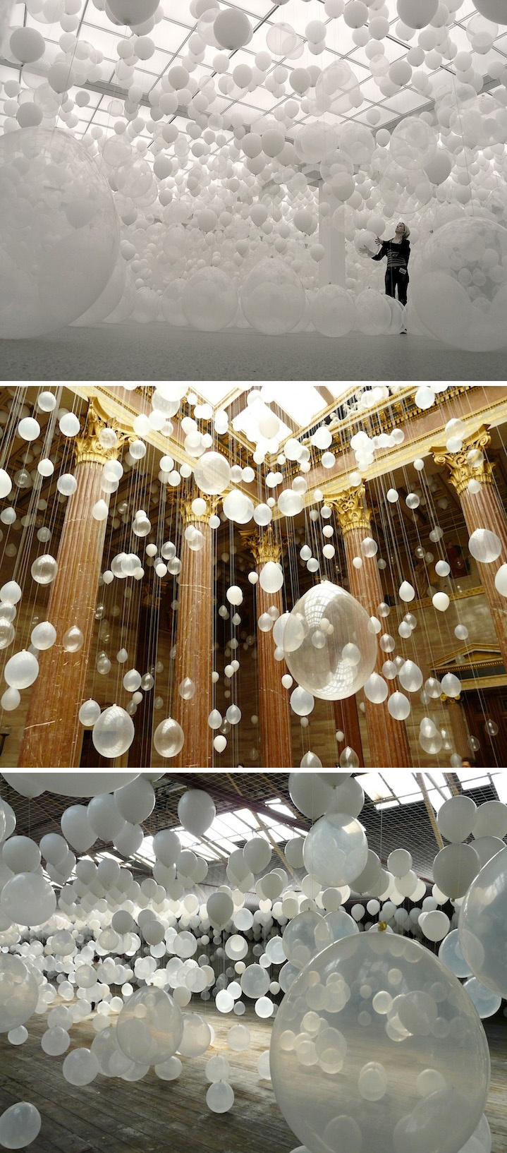 Scattered Crowd - installation featuring thousands of balloons by William Forsythe.