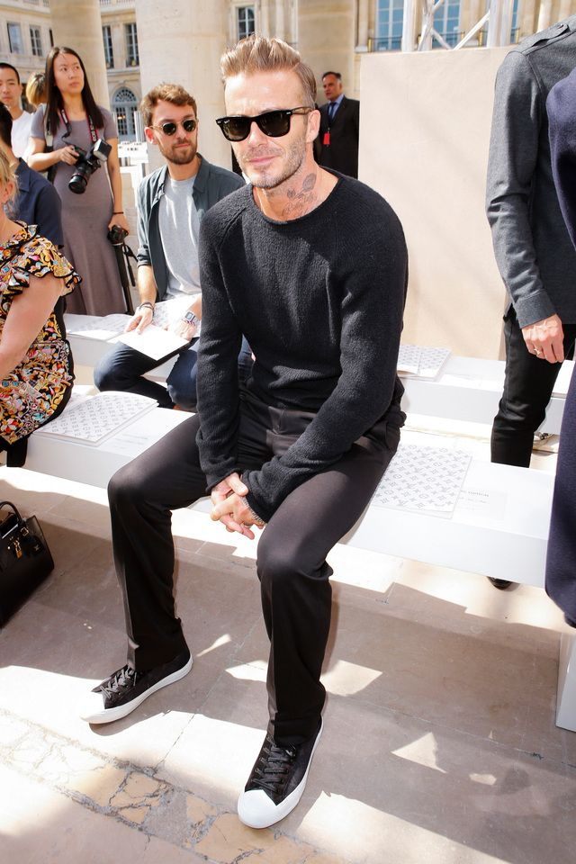 David Beckham Attends The Louis Vuitton Menswear Spring Summer 2017 Show As Part Of Paris