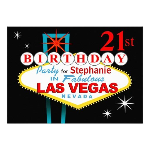 352 best Las Vegas Birthday Party Invitations images on Pinterest