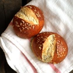 savory pretzel rolls