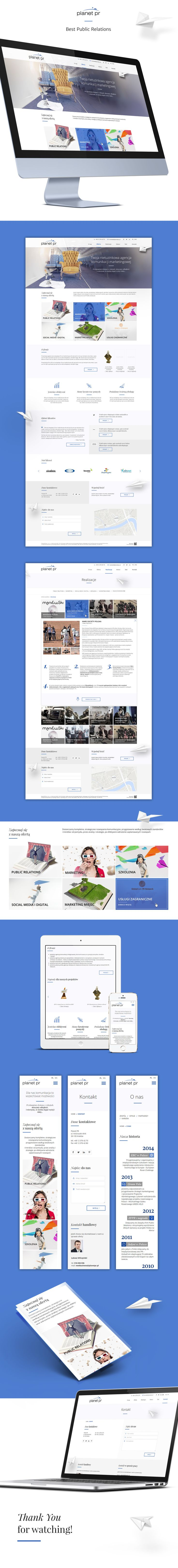 Web for the public relations agency that deals with integrated communication, focused on the synergy of ideas, channels and actions.