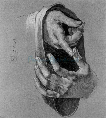 Albrecht Dürer(21 May 1471 – 6 April 1528),Study of hands