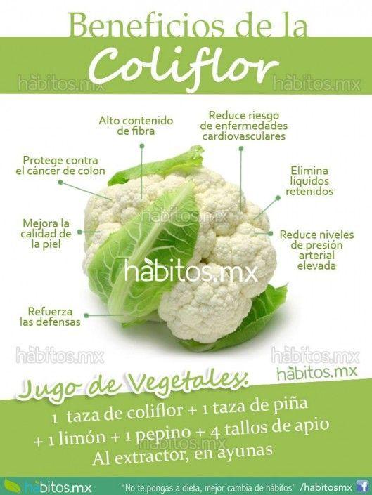 BENEFICIOS DE LA DELICIOSA COLIFLOR #salud