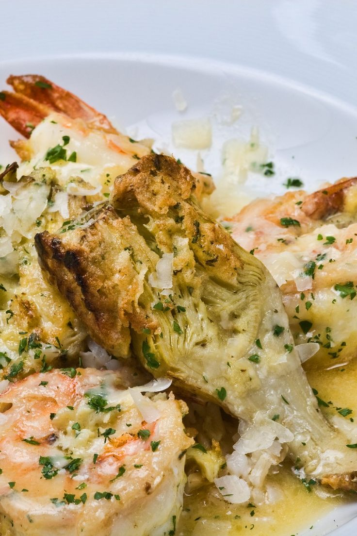 Garlic and Shrimp Scampi with Artichokes