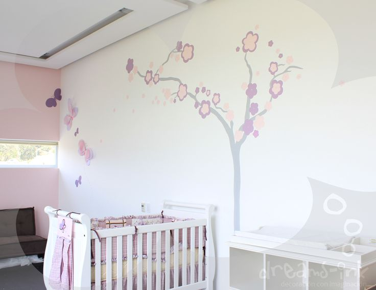 A super great #mural for a painted by #DREAMSink_murales. #iloveblossom, #babiesroom #kidsdecoration