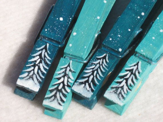 hand painted magnetic clothespin perfect to hold the kids artwork on the fridge