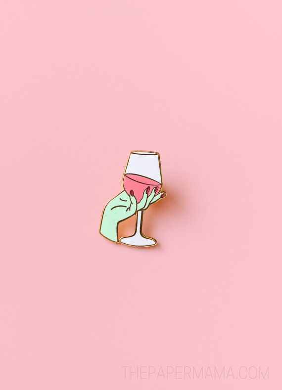 HAPPY HOUR SALE: Wine Time Enamel Lapel Pin - Button