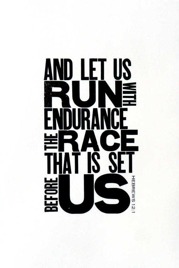 Running themed art black and white letterpress poster motivational print for runner religious bible verse gift for runner 11 x 17 pinterest