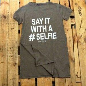 Γυναικειο Μπλουζάκι #SELFIE ΧΑΚΙ
